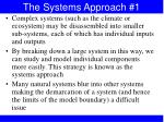 the systems approach 1