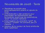nouveaut s de java5 texte