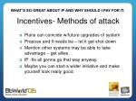 incentives methods of attack