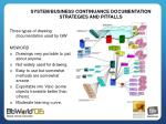 system business continuance documentation strategies and pitfalls4
