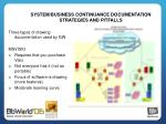 system business continuance documentation strategies and pitfalls5