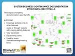 system business continuance documentation strategies and pitfalls6