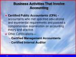 business activities that involve accounting2
