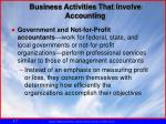 business activities that involve accounting3