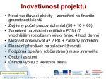 inovativnost projektu