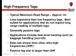 high frequency tags