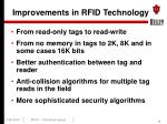 improvements in rfid technology