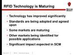 rfid technology is maturing