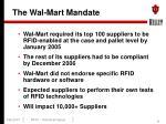the wal mart mandate