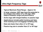 ultra high frequency tags