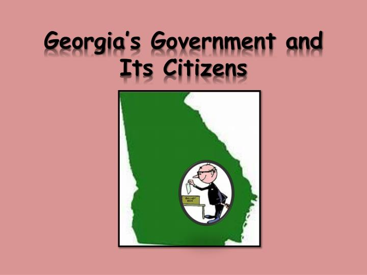georgia s government and its citizens n.