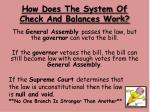 how does the system of check and balances work