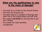what are the qualifications to vote in the state of georgia