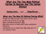 what are the two main political parties in georgia and the united states