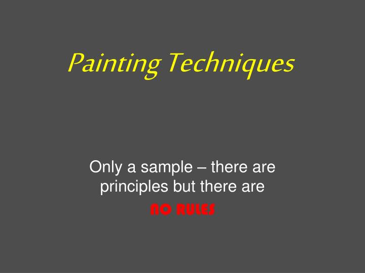 painting techniques n.