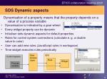 sds dynamic aspects