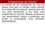 antipatrones de dise o1