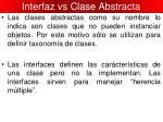interfaz vs clase abstracta