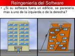 reingenier a del software