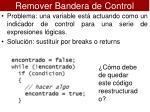 remover bandera de control