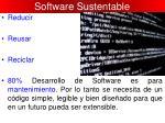 software sustentable