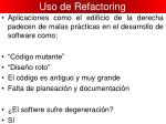 uso de refactoring