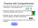 practice with comprehension