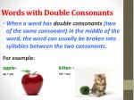words with double consonants