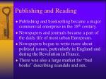 publishing and reading