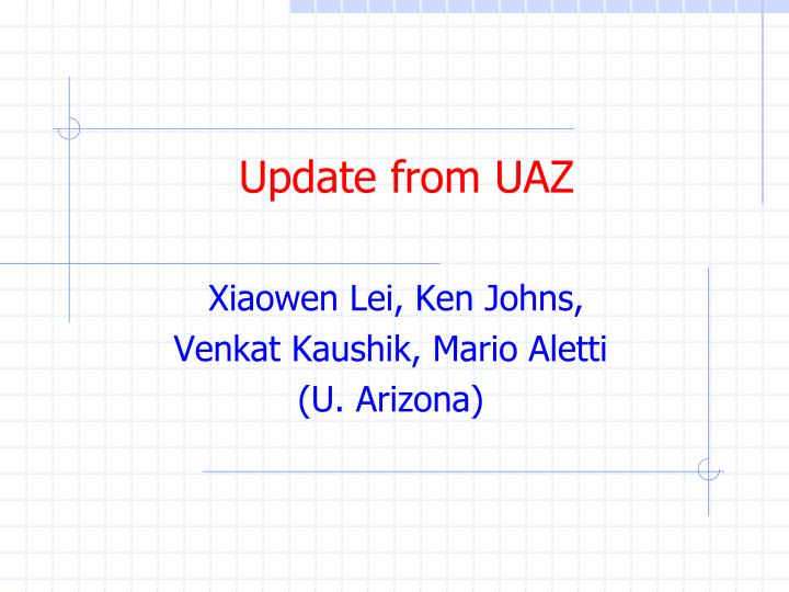 update from uaz n.