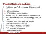 practical tools and methods