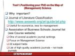 tool 1 positioning your phd on the map of management science