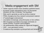 media engagement with sm