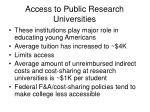 access to public research universities