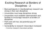 exciting research at borders of disciplines 2