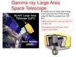 gamma ray large area space telescope