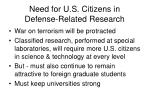 need for u s citizens in defense related research