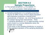 section 9 2 sample proportions
