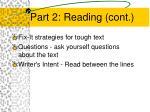 part 2 reading cont