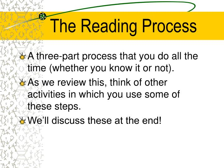 the reading process n.
