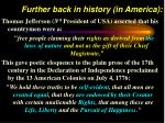 further back in history in america