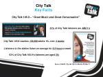 city talk key facts