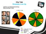 city talk weekday line up
