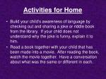 activities for home