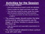 activities for the session