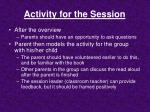 activity for the session5