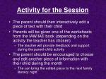 activity for the session6