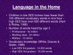 language in the home1