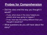 probes for comprehension