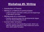 workshop 9 writing